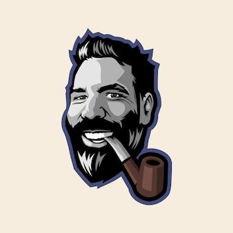 Man smoking and smiling