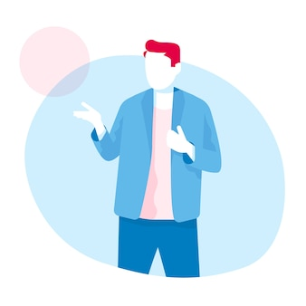 Man speaker vector illustration