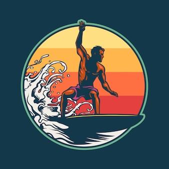 Человек серфинг