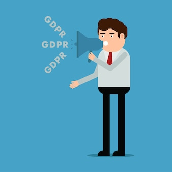 The man talks about the gdpr