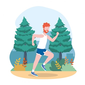 Man training exercise and running activity
