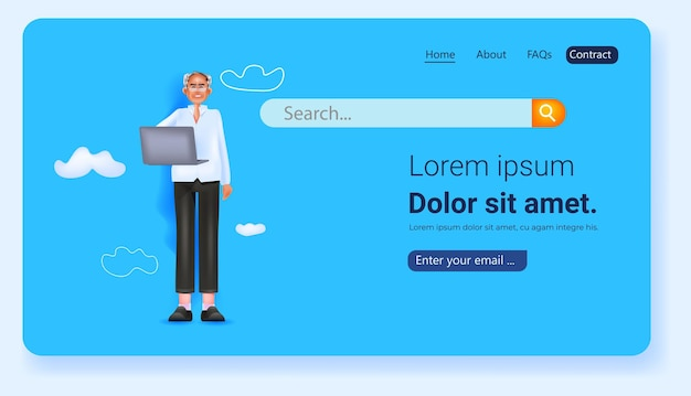 Человек, использующий ноутбук социальных сетей сети онлайн-коммуникации концепции полной длины