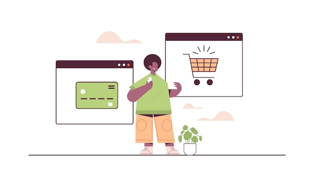 Man using smartphone application for online shopping ordering and paying e-commerce smart purchasing