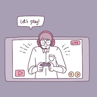 A man who plays games on a smartphone.