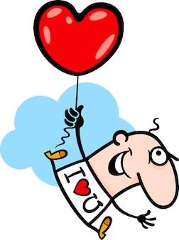 男のウィットバレンタインハーブバルーン漫画