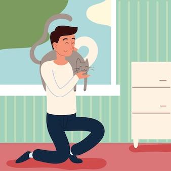 猫を持つ男