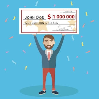 Man with a cheque background design