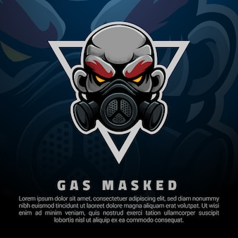 A man with gas-masked