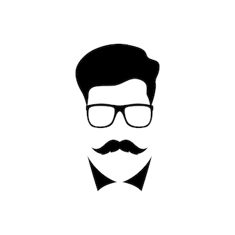 Man with mustache wearing a glasses
