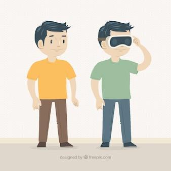 Человек с очки виртуальной реальности