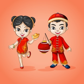 Man and woman from china