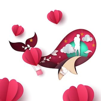 Man and woman illustration