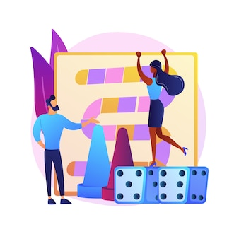 Uomo e donna che giocano gioco da tavolo. tempo libero domestico, intrattenimento domestico, attività ricreative al coperto. competizione amichevole, amici che giocano insieme.