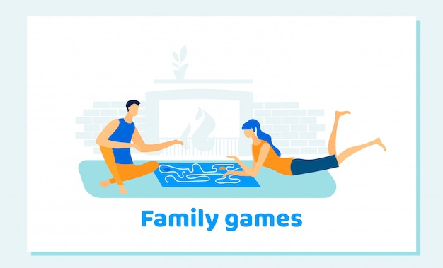 Man and woman playing family board games at home