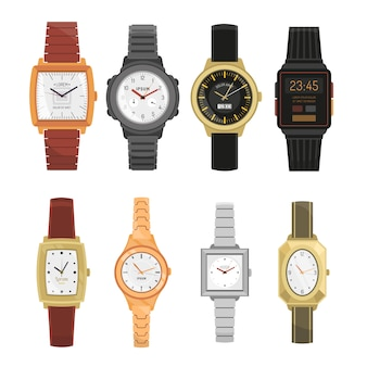 Man and woman wrist watches set