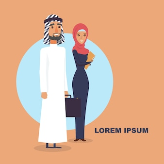 Man and women arabic people.