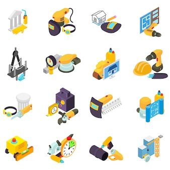 Man work icon set