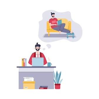 가정에서 프리랜서 작업을 꿈꾸는 비즈니스 사무실에서 컴퓨터에서 작업하는 사람