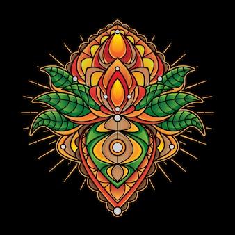 シンプルなman羅デザインのタトゥー