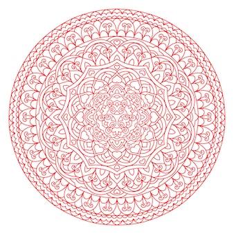 抽象的な花man羅。デザインの装飾的な民族の要素。