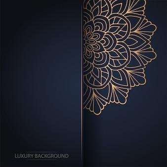 暗い背景に金の花man羅