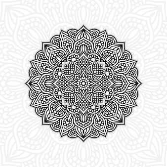 黒と白の花man羅