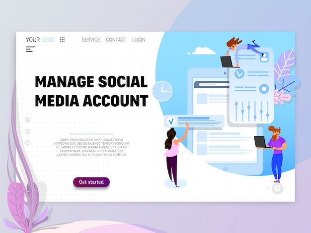 Manage social media account