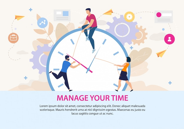Manage your time motivation poster template