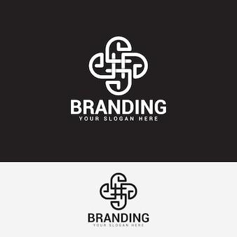 관리 및 컨설팅 로고 디자인 벡터 템플릿