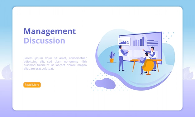 Management discussion website