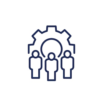 Management and hr line icon