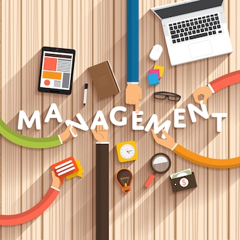 Management illustration