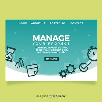 Management landing page