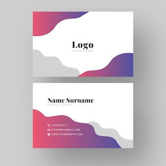 Manager brand business card design