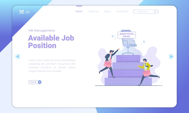 Manager positions available landing page template