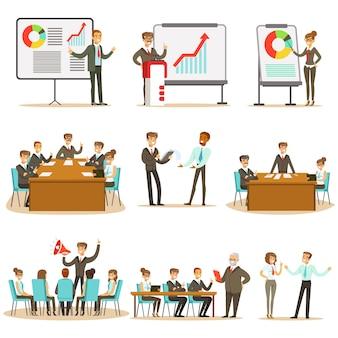 Менеджеры и офисные работники по бизнес-тренингам, развитию навыков маркетинга и управления бизнесом и сбора знаний