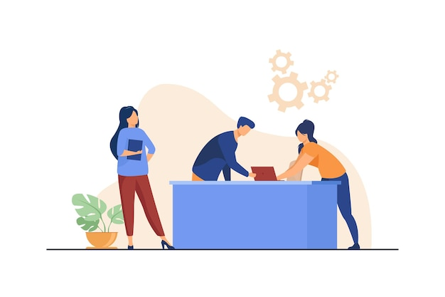 Менеджеры, работающие над проектом вместе