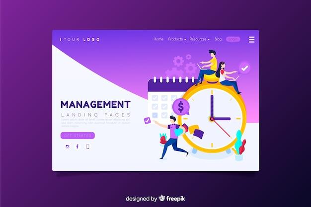 Managment landing page