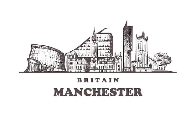 Manchester skyline in britain