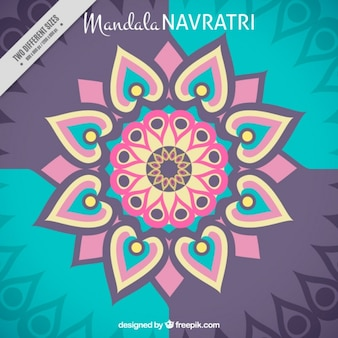Mandala abstract background of navratri