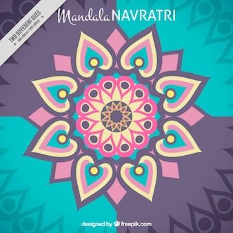 Mandala abstract background of navratri