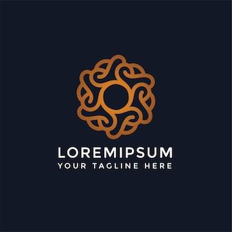Абстрактный логотип мандалы для роскошного спа-салона красоты - можно использовать для студий йоги, центров комплексной медицины, натуральных и органических продуктов питания