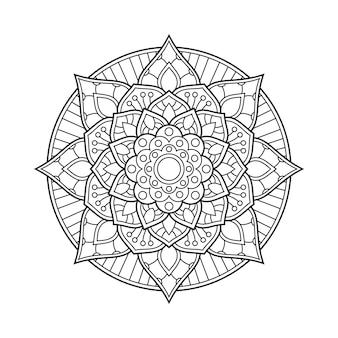 Мандала арабески раскраски страницы книжной иллюстрации
