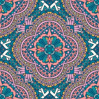 Mandala arabesque seamless pattern