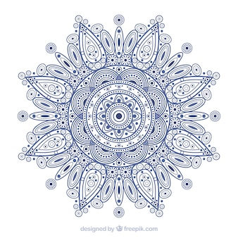 Mandala background in lineal style