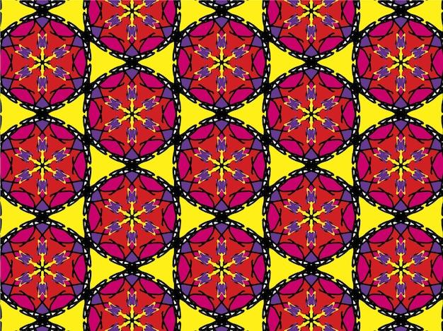 만다라 배경 무늬 꽃 만다라 배경 무늬 반복 꽃 무늬 모자이크 무늬