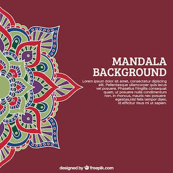 Mandala background and template