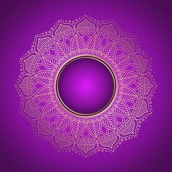 Mandala background vintage decorative elements in ethnic style