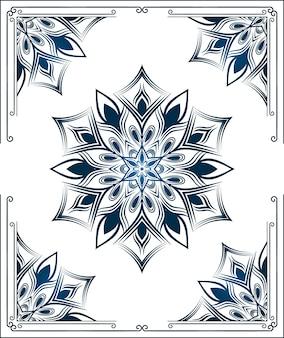 Мандала фон с узором арабески