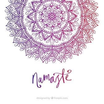 Mandala background with gradient colors